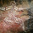 Nabulwinjbulwinj spirit painting at Nourlangie
